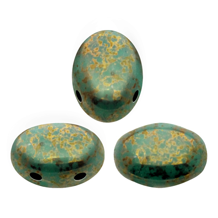 Opaque Green Turquoise Bronze - Samos® par Puca® - 63130/15496