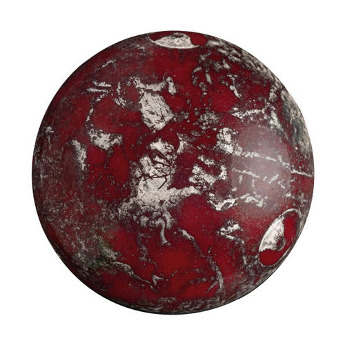 Opaque Coral Red New Picasso - Cabochon par Puca® -93210-65400